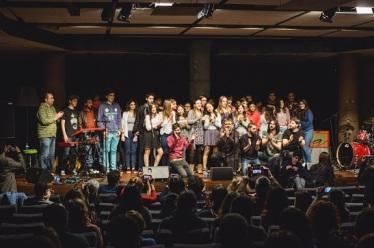 Coriolà i alumnes de Cinema en Curs