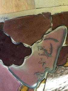 Restauració de vitrall detall cara