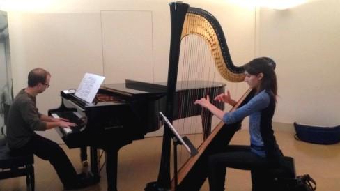 Assaig del concert de l'arpista Esther Pinyol i del pianista Marc Mallafré. ©@PabloEulate